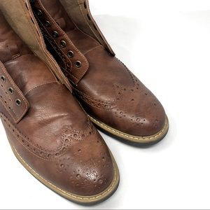 MADDEN   Men's Leather Boots NO STRING Size 10.5